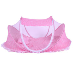 3pcs Folding Baby Mosquito Net With Mattress And Pillow (pink) By Welcomehome.