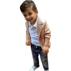 Sale 3Pcs Kids Baby Boy Gentleman Coat Shirt Jeans Pants Trousers Clothes Outfits Set Intl Oem Online