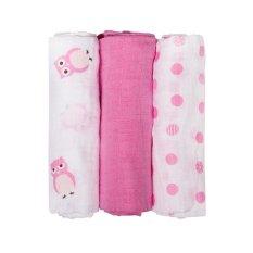 Best Offer 3Pcs Set 70 70Cm Muslin Cotton Baby Swaddles Intl