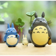 Compare Prices For 3Pcs Lots Miyazaki Toy Totoro Leaf Anime Cartoon Mini Minion Actionfigure Model Kids Toys Christmas Gifts Intl