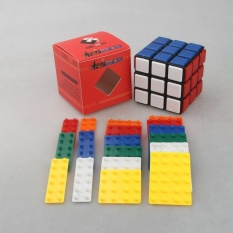 Shop For 3X3X3 Diy Bandaged Cube Black Magic Cube With 72Pcs Plastic Color Stickers Brain Teaser Puzzle Cube For Magic Cube Lovers Intl