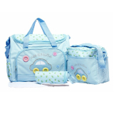 Price 4 In 1 Multi Function Car Pattern Large Capacity Baby Diaper Nappy Changing Pad Travel Mummy Bag Tote Handbag Set Sky Blue China