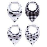 4 Pcs Cotton Baby Feeding Saliva Towel Unisex Triangle Bibs For Sale