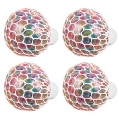 4 Pcs Led Colored Mesh Squishy Grape Ball Stress Anxiety Relief Toy Balls For Autism Adhd Smoking Quitting - Intl By Stoneky.