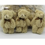Sale 40Pcs Lot Kawaii Small Joint Teddy Bears Stuffed Plush Whit Chain 12Cm Toy Teddy Bear Mini Bear Ted Bears Plush Toys Wedding 019 Intl Oem Branded