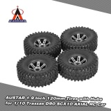 Wholesale 4Pcs Austar Ax 5020A 1 9 Inch 1 10 Rock Crawler Tires With Metal Hub For Traxxas Redcat Scx10 Axial Rc Car Intl