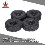 Buy 4Pcs Austar Ax 5020C 1 9 Inch 120Mm Tires With Hub For 1 10 Traxxas Redcat Scx10 Axial Rc4Wd Tf2 Rock Crawler Intl Not Specified Original