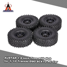 Top Rated 4Pcs Austar Ax 5020C 1 9 Inch 120Mm Tires With Hub For 1 10 Traxxas Redcat Scx10 Axial Rc4Wd Tf2 Rock Crawler Intl