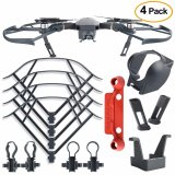 New 4Pcs Protection Accessories Kits For Dji Mavic Pro Including Landing Gear Extender Lens Hood Gimbal Guard Quick Release Propeller Prop Guard And Remote Controller Stick Thumb Protective Clip Intl