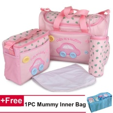 Compare Price 4Pcs Lot Mummy Handbags Set Mom Large Capacity Maternity Baby Diaper Nappy Bag Intl On China