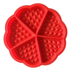 5 Cavity Love Heart Shaped Waffle Silicone Mold Cake Bread Chocolate Candy Baking Mould Loaf Cheesecake Pudding Cooking Tools Kitchen Accessories Supplies - Intl By Stoneky