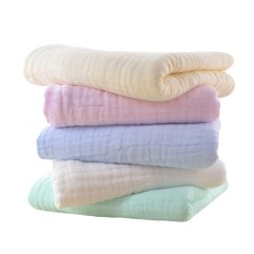 5 Pcs Assorted Colors Super Soft Cotton Kid Newborn Baby Towel Muslin Face Sweat Saliva Wipe Washcloth 30 X 30cm - Intl By Stoneky.