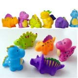 5 Pcs Pack Lovely Kids Bathroom Toy Safe Dinosaur Animals Colorful Soft Rubber Float Squeeze Bath Toy For Baby Intl Lowest Price
