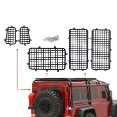 Great Deal 5 Pcs Set Metal Fence Window Mesh Protective Net For 1 10 Rc Traxxas Trx4 Crawler Intl