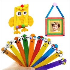 50pcs Wooden Popsicle Stick Kids Ice Cream Lolly Diy Making Toy (multicolor) (1) Write A Review - Intl By Ailin Commercial Company.