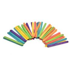 50pcs Wooden Popsicle Stick Kids Ice Cream Lolly Diy Making Toy (multicolor) By Welcomehome.