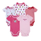 5Pcs 2017 Newborn Summer Rompers Cute Bebes Baby G*rl Jumpsuit Romper Infantil Outfit Clothes Coveralls Intl On China