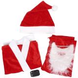 Purchase 5Pcs *d*lt Men Christmas Santa Claus Costume Suit Outfit One Size Online