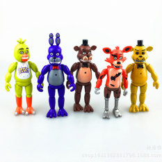 How Do I Get 5Pcs Set 5 5Inches Pvc Five Nights At Freddy S With Lighting Action Figures Toys Foxy Freddy Fazbear Bear Doll Intl