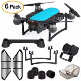 6 Pack Accessory Kits For Dji Spark Lens Hood Sunshade Landing Gear Extender Gimbal Guard Silica Gel Motor Guard Protective Cover Finger Guard Board Hand Dam Board Joystick Protector Intl Best Buy