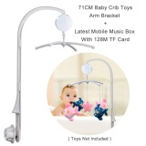 Buy 66Cm High Baby Crib Mobile Bed Bell Toys Holder Arm Bracket Baby Bed Stent Set With 128M Micro Sd Card Digital Music Box Toys Not Included Cheap China