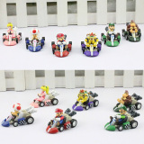 Price 6Pcs Set Super Mario Bros Car Kart Pull Back Cars Yoshi Mario Luigi Koopa Pvc Figures Toys Dolls Classic Karts Toy Oem Original