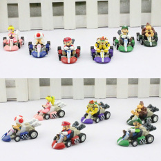 Price Compare 6Pcs Set Super Mario Bros Car Kart Pull Back Cars Yoshi Mario Luigi Koopa Pvc Figures Toys Dolls Classic Karts Toy