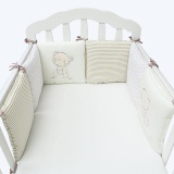 6Pcs Set Baby Crib Bed Bumper Cushion Fence Cover Baby Protector Safety Intl Coupon Code