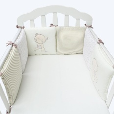 6pcs/set Baby Crib Cot Bumper Cushion Fence Cover Baby Protector Infants Bedding - Intl By Simida Limited.