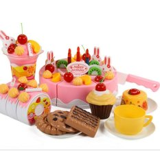 75pcs/set Plastic Kitchen Cutting Birthday Cake Toy Gift For Children Kids - Intl By Mingrui.