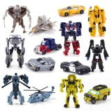 Review 7Pcs Lot Transformation Kids Classic Robot Cars Toys For Childrenaction Toy Figures Intl China