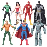 Sale 7Pcs Set 17Cm Justice League Superman Wonder Woman The Flash Batman Green Lantern Aquaman Pvc Figure Collectible Model Toy Intl Oem Branded
