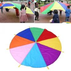 Wholesale 8 Handles 2M Diameter Rainbow Kids Parachute Multicolor Toy Intl