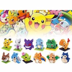 Latest 8 X Nanoblock Education Toy Pokemon Pocket Monster Character Diamond Nano Block Building Block Toys Kids