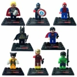 Price Comparison For 8Pcs Avengers Super Hero Deadpool Batman Building Blocks Sets Kids Toys For Children Super Heroes Intl