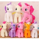 8Pcs Lot 20Cm Cute My Little Pony Colorful Horse Plush Soft Stuffed Animals Doll Toys For Kids Birthday Gifts Intl Lower Price