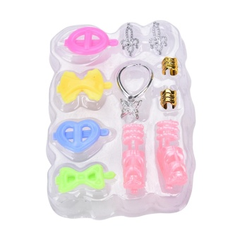 8pcs/Set Jewelry Necklace Earring Shoes Accessories For Barbie Dolls