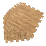 Low Cost 9Pcs Wood Interlock Eva Foam Floor Puzzle Pad Work Gym Mat Kid Safety Play Rug Intl