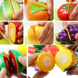Top Rated Abs Kids Pretend Role Play Kitchen Food Play Vegetable Food Toy Cutting Fruit For Kid Children Toys Gift Set Intl