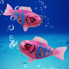 New Activated Battery Powered Robo Fish Toy Childen Kids Robotic Pet