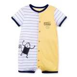 Sale Acvip Baby Boy Two Color Stripe Short Sleeve Bodysuit Romper Jumpsuit Intl Acvip Branded