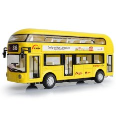 Purchase Alloy London Bus Double Decker Bus Light Music Open Door Design Metal Bus Diecast Bus Design For Londoners Toys For Children Intl