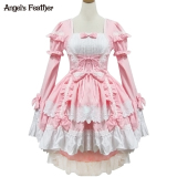 Brand New Angel S Feather L*l*t* Angel Of Love Cos Gorgeous Pink And Dovetail Maid Dress Costume