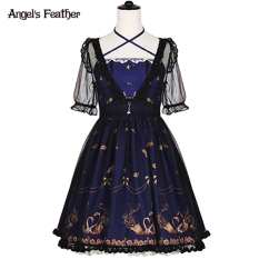 Angel L*L*T* Swan Bronze Dungaree Dress On China