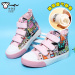Asia Korea Monkey High Top Magic Stickers Shoes Hip Hop Cartoon Boys Shoes Girls Canvas Shoes Small Boy Baby Shoes Price Comparison