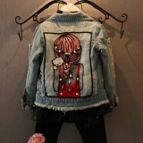 Autumn Spring Children G*rl Outerwear Coat G*rl S Jackets Denim Kids Fashion Wear Print Jacket Intl Online