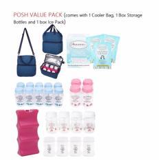 Buy Cheap Autumnz Posh Breast Milk Storage Solution Cooler Bag Ice Pack Std Bottles 5Oz 140Ml 4 Bttls Bpa Free