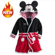 Discount Baby Bathrobe Children Pajamas Baby Homewear Black