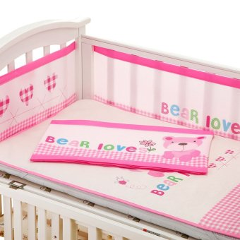 Baby Bed Bumper Baby Bumpers In The Crib Bed Protector Mesh Cot Protection  Baby Bed Cushion Sets For Spring Summer   Intl