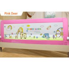 Baby Bed Rail Bed Guard Latest Design 1.8m Pink Deer